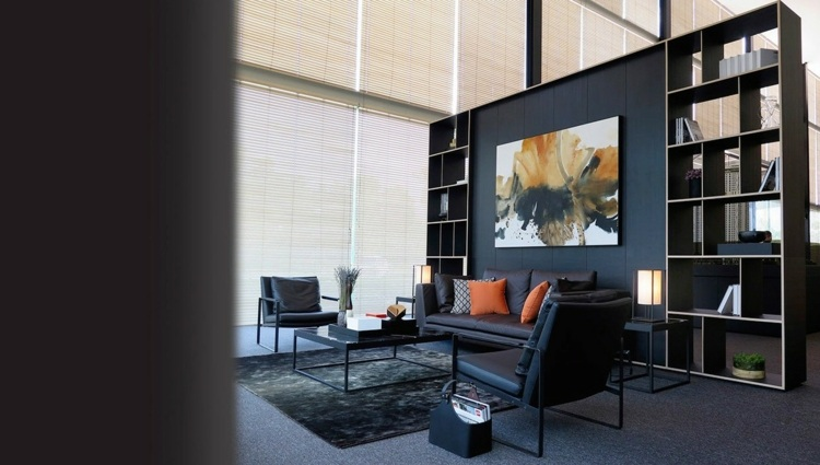 Wohnzimmer Couch Leder  Moderne Wohnzimmer 24 Interieur Ideen Mit Tollem Design
