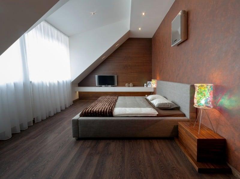 Schlafzimmer mit Dachschräge gestalten - 23 Wohnideen - dachschrage gestalten schlafzimmer