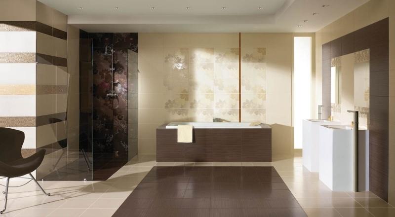 Außergewöhnlich Braun Beige Badezimmer U2013 Edgetagsinfo   Badezimmer Modern Beige