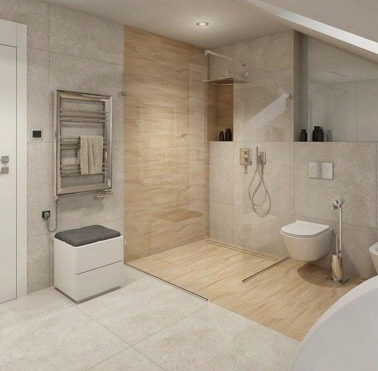 Ebenerdige Dusche in 55 attraktiven modernen Badezimmern - badezimmer nur mit dusche