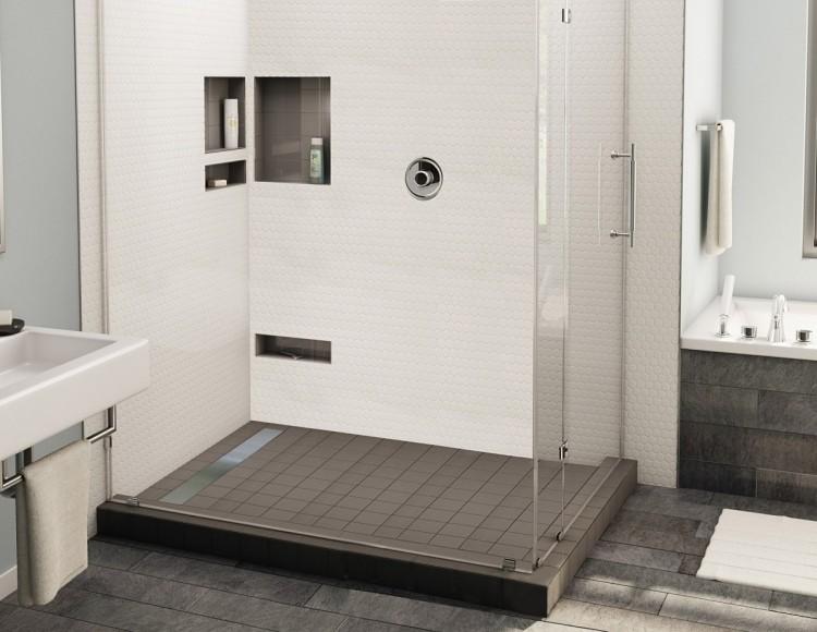 Ebenerdige Dusche in 55 attraktiven modernen Badezimmern - dusche fliesen