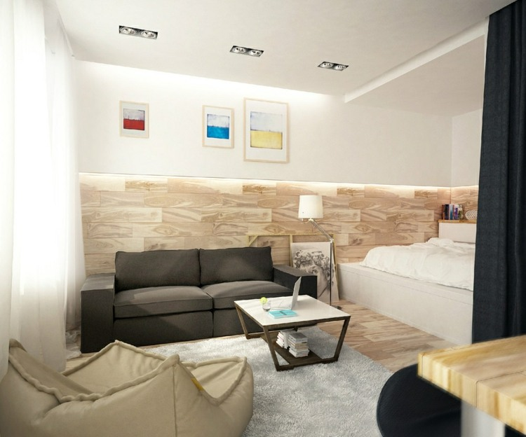 Zimmer Wohnung Einrichten Apartments Als Inspiration Wohnung Braun With  Einrichten 1 Zimmer Wohnung.