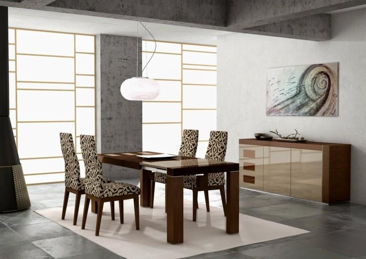 Graue Fliesen für Wand und Boden - 55 moderne Wohnideen - esszimmer graue wand
