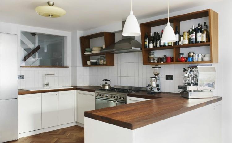 Küche Weiß Schwarze Arbeitsplatte | Küchen & Wohnküchen ...