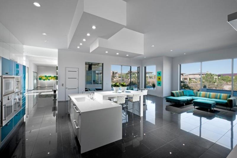 Beautiful Kuche Mit Wohnzimmer Modern Gallery - House Design Ideas - wohnzimmer bilder modern