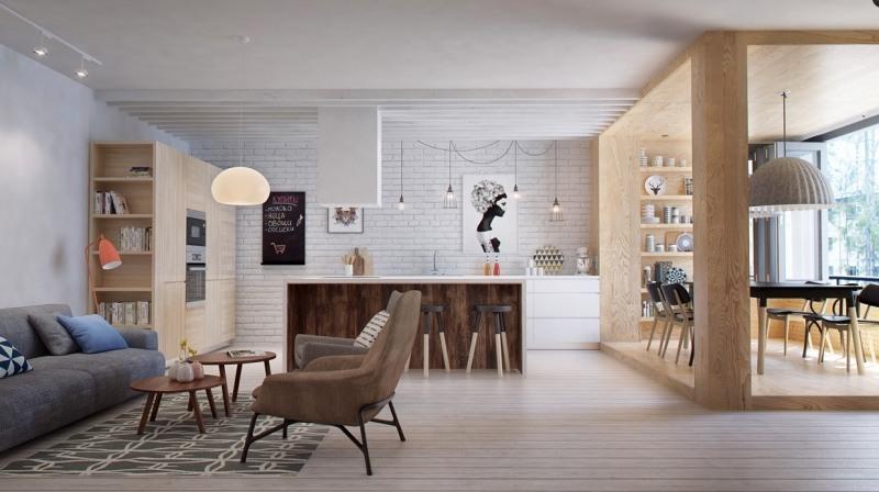 Offene Küche mit Wohnzimmer - Pro, Contra und 50 Ideen - ideen kuche