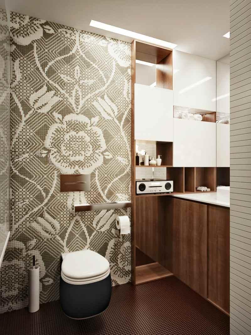 Badezimmer Wand Gestalten Leicht Bad Mit Mosaik Fliesen Fur Dusche