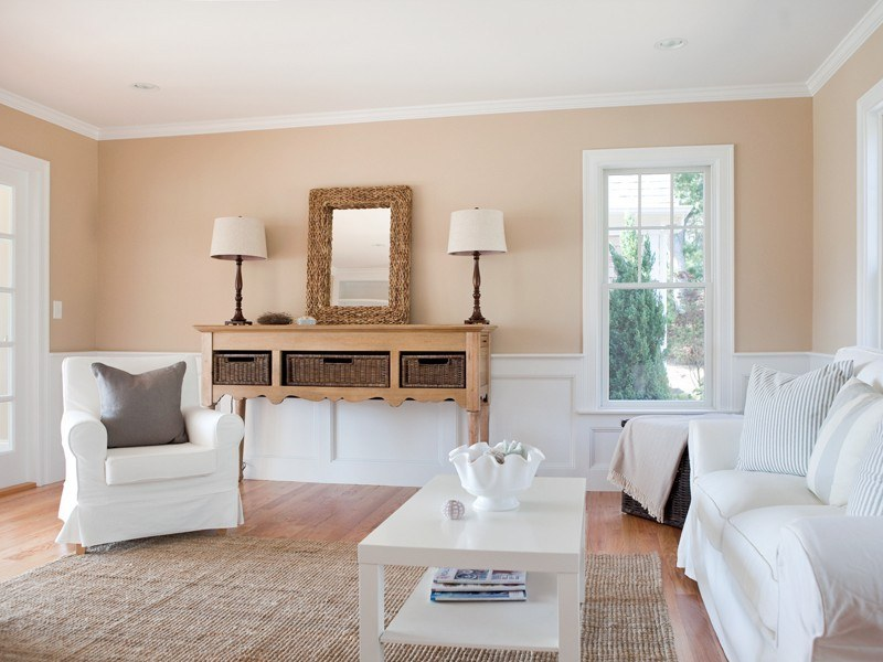 50 Wandfarben Ideen in Sand- und Pudertönen - beispiele wandfarbe lila wohnzimmer