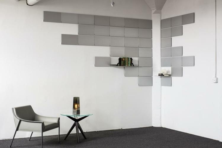 39 besten bookcases  wall shelves bilder auf pinterest - aluminium regal mit praktischem design lake walls