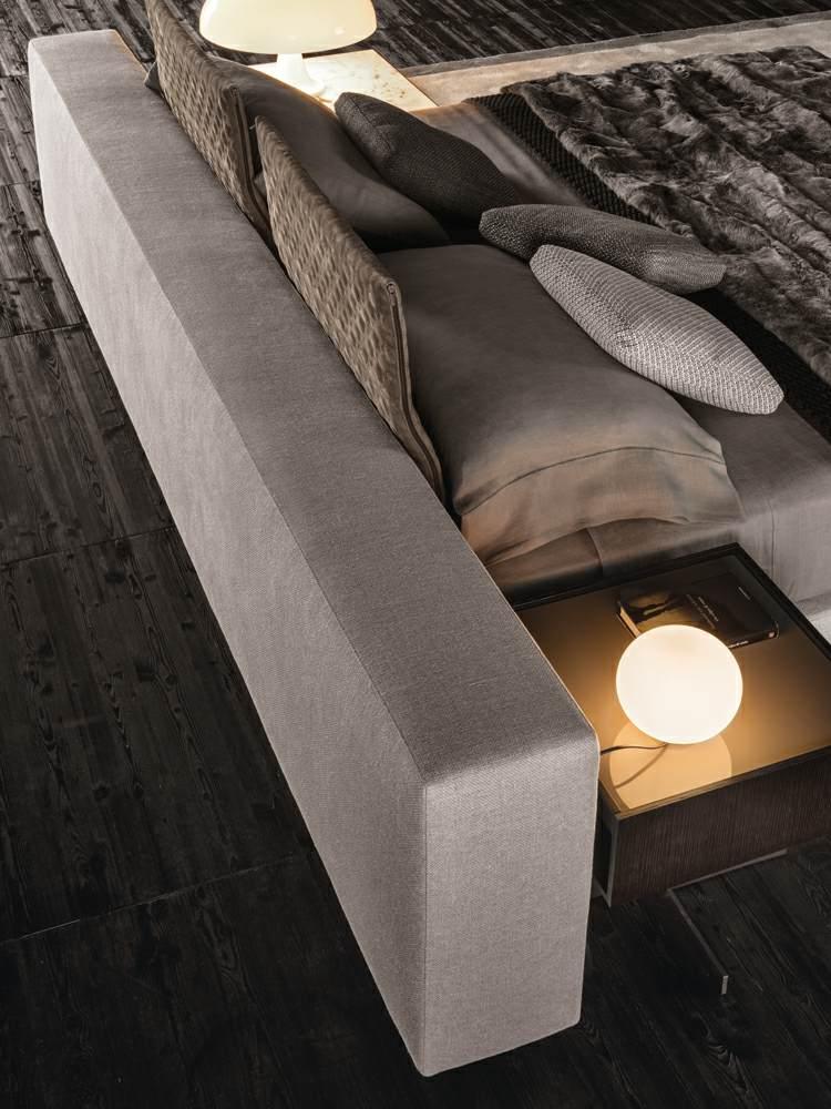 bett mit minimalistisch grauem design bilder - design - Bett Mit Minimalistisch Grauem Design Bilder