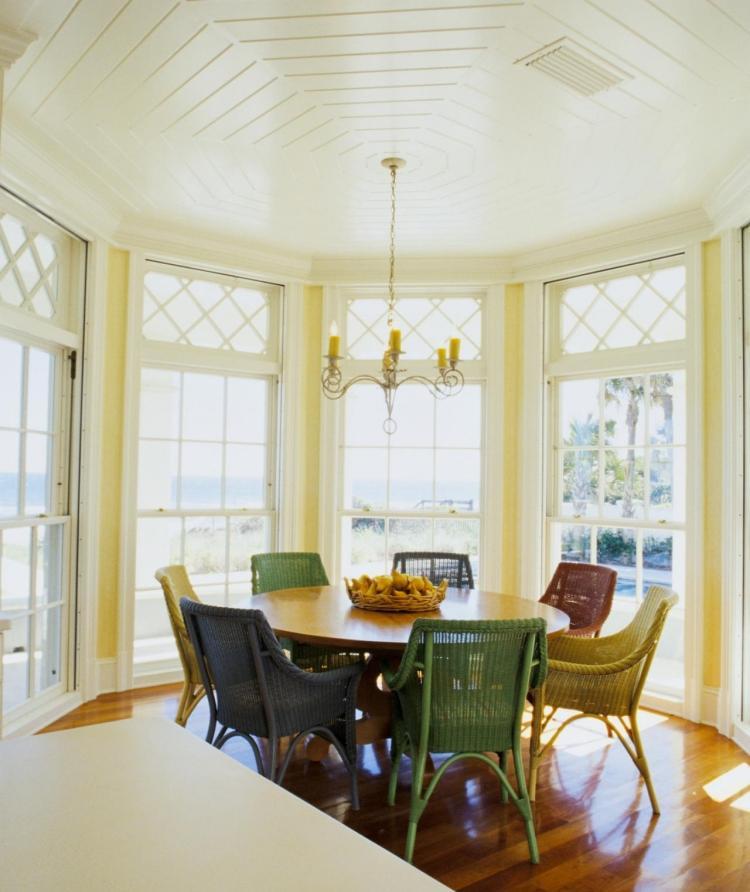 Erkerfenster dekorieren - 55 gemütliche Ecken mit Ausblick - esszimmer fenster dekorieren