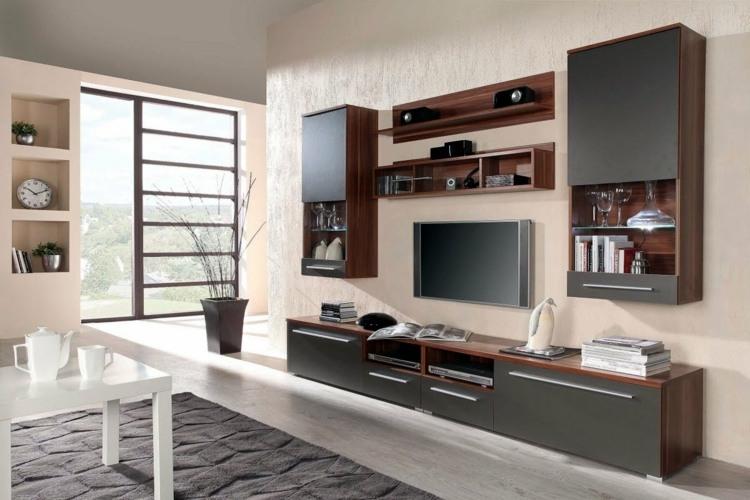 Tv Wand Weiß Hochglanz