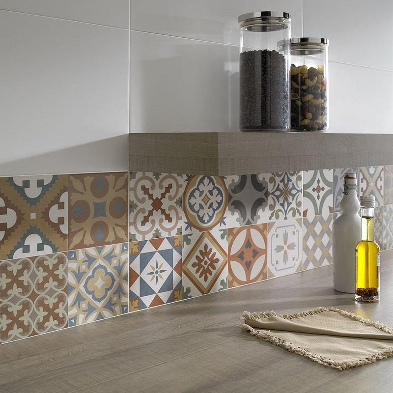 Fliesenspiegel In Der Kuche Ideen Mit Patchwork Mustern Villaweb   Messing  Spulen Retro Design