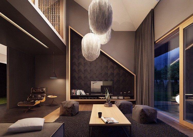 Wohnzimmer in Grau und Schwarz gestalten - 50 Wohnideen - schwarz im esszimmer ideen einrichtung