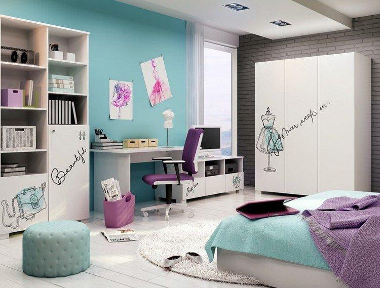 Kinderzimmer Wandgestaltung 50 Ideen mit Farbe, Tapete - wandgestaltung farbe kinderzimmer