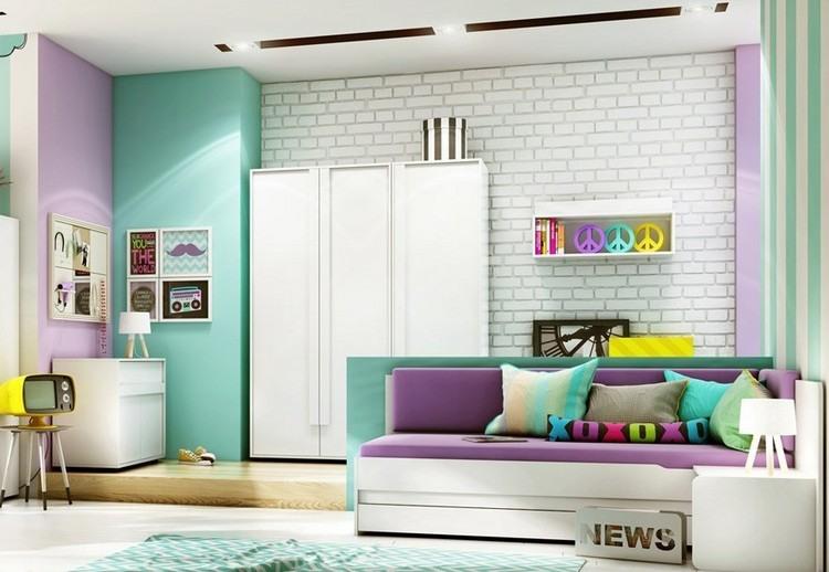 Kinderzimmer Wandgestaltung 50 Ideen mit Farbe, Tapete - kinderzimmer tapete ideen
