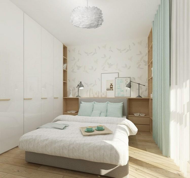Kleine Räume farblich gestalten Wandfarbe und Möbel - schlafzimmer gestalten wandfarbe