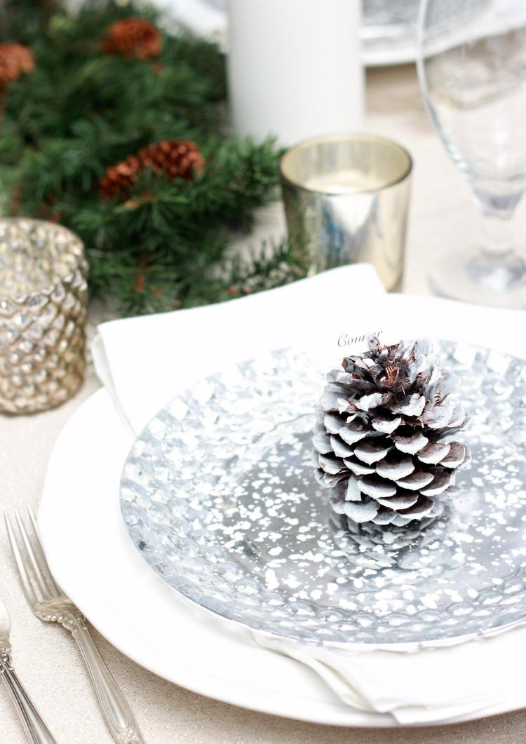 Tischdeko Weihnachten Grun Weiss Tischdeko Silber Silberne