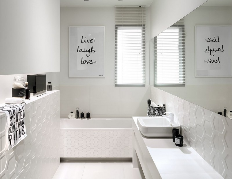 Moderne Weiße Fliesen ~ Speyedernet u003d Verschiedene Ideen für die - weies badezimmer modern gestalten