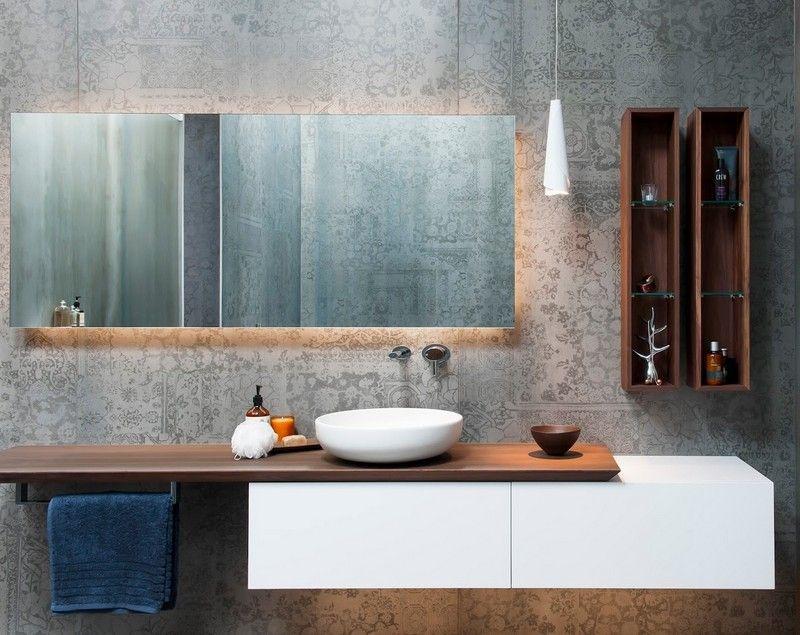 Badspiegel-Beleuchtung-Spiegel-Wandfliesen-Musterjpg 800×635 - modernes badezimmer designer badspiegel