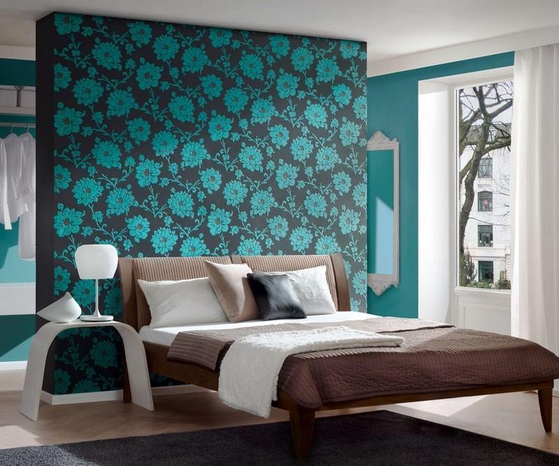 Wandgestaltung in Grau und Türkis - 25 Farben Ideen - schlafzimmer in turkis