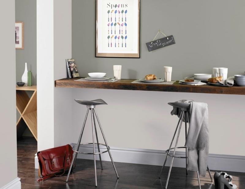 Wohnraumgestaltung mit Farben - 50 Beispiele - esszimmer graue wand