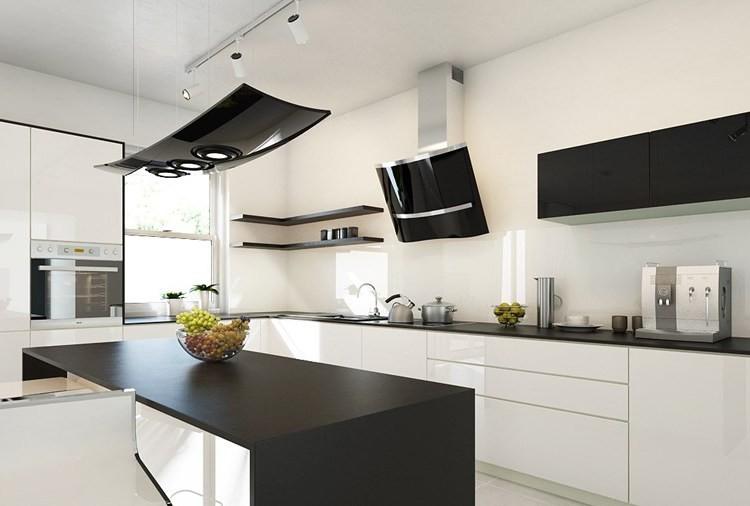 Küche Weiß Holzarbeitsplatte | 78 Besten Dunkle Küchen ...