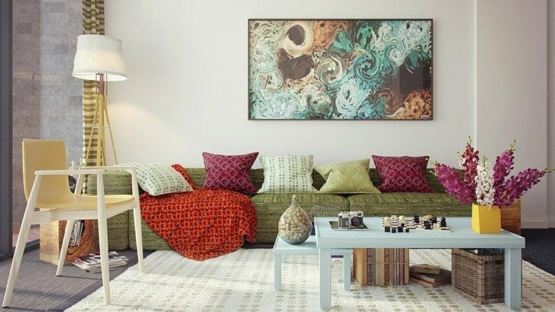Wohnzimmer dekorieren - 50 Ideen mit Kissen, Bildern \ mehr - dekoration wohnzimmer bilder