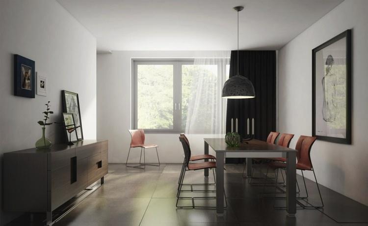 Esszimmer dunkel einrichten - 50 moderne Gestaltungideen - schwarz im esszimmer ideen einrichtung