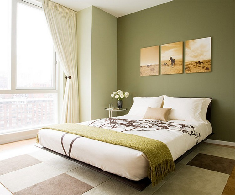 Welches Grün als Wandfarbe? - 35 Ideen mit Grüntönen - schlafzimmer ideen in grun