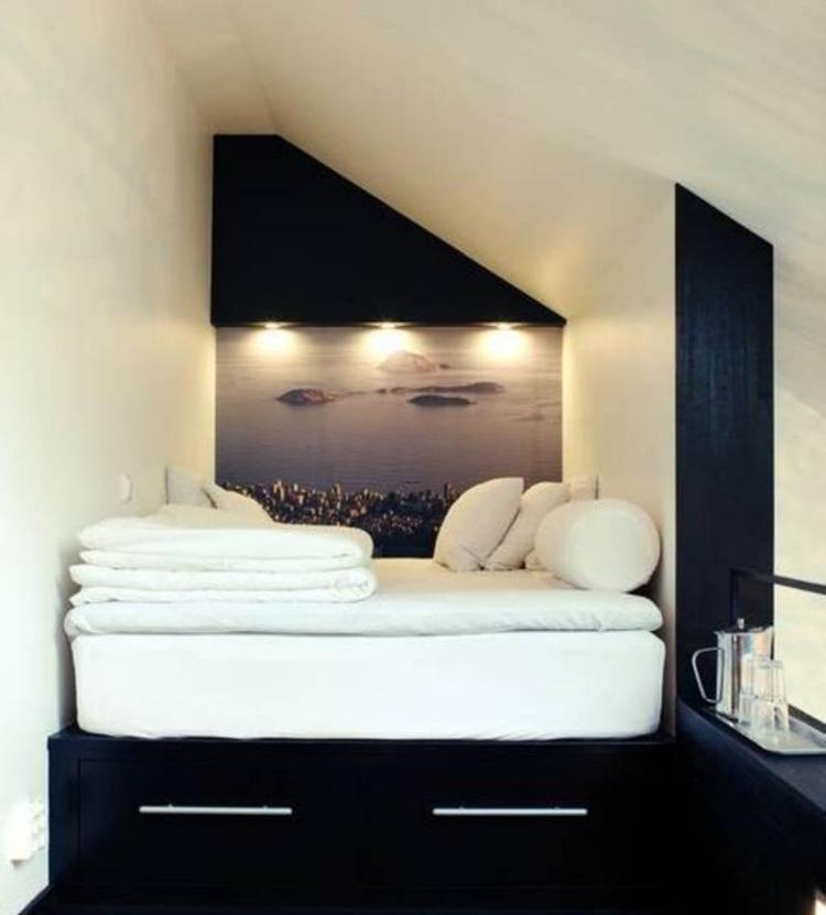 25 Ideen für Wohnung einrichten mit Dachschrägen - schlafzimmer dachschrage einrichten