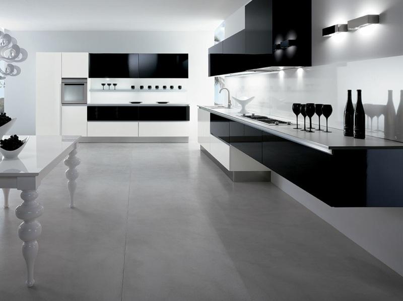 Eine schwarze Küche wählen - Tipps und 48 Interieur Ideen - schwarze kuche tipps bilder interieur