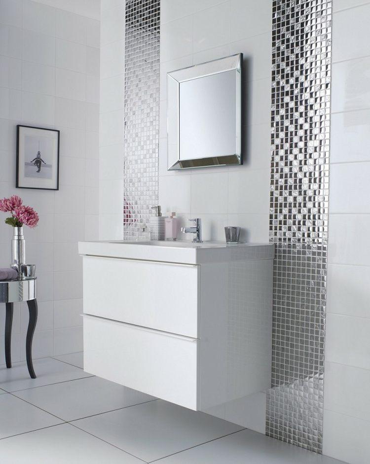 Bad Mit Mosaik Gestalten Badezimmer Fliesen Mosaik Blau Bad - weies badezimmer modern gestalten