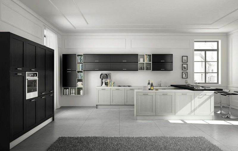 Landhausstil Küche Modern ~ Möbel Ideen und Home Design Inspiration - schwarze kuche tipps bilder interieur
