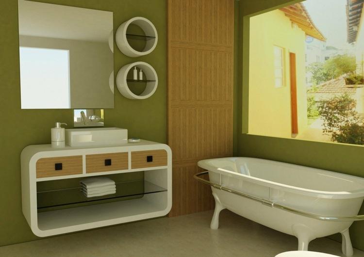 Badezimmer streichen in beliebigen Farbvarianten - 50 Ideen - badezimmer konsole
