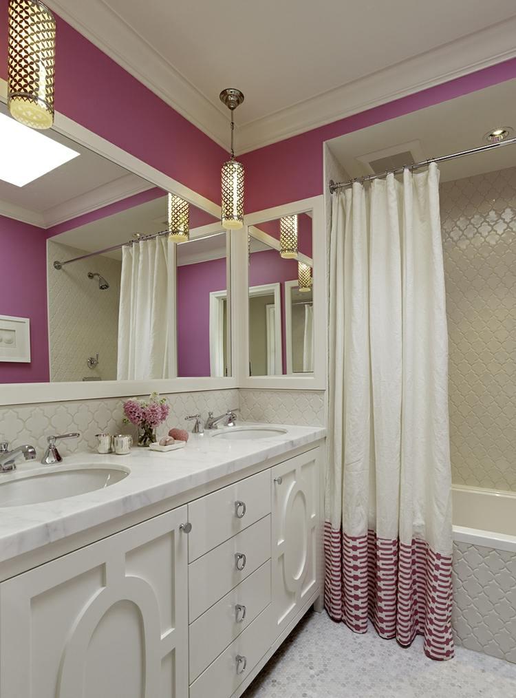 Badezimmer streichen in beliebigen Farbvarianten - 50 Ideen - badezimmer pink