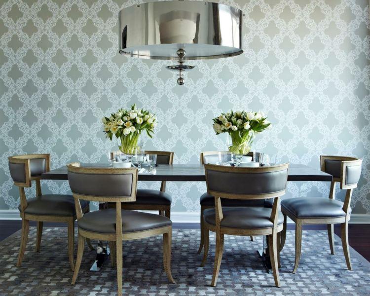 Esszimmer-graue-wand-105 wohnzimmer esszimmer grau beige amocasio - esszimmer graue wand
