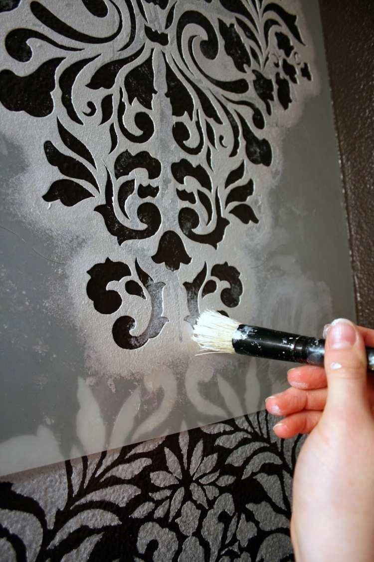 Schablonen wandgestaltung wandgestaltung schablonen for Wandmuster streichen vorlagen