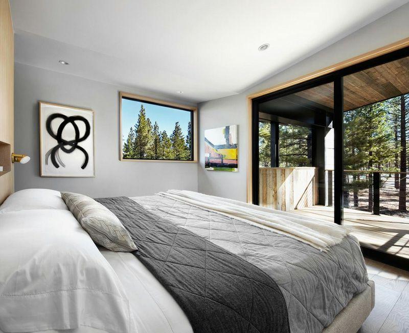 Akzent Wand aus Stein in einem modern-rustikalen Haus - graue wand und stein