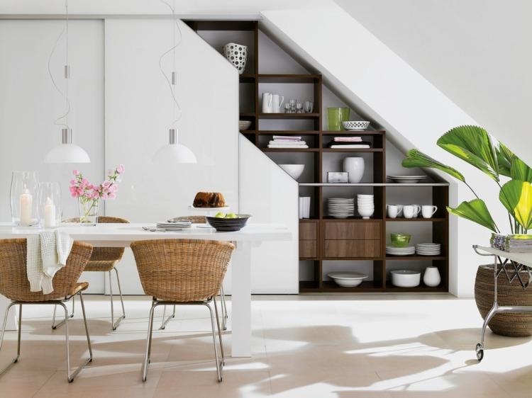 Einbauschrank bei Dachschräge - 36 praktische Design Ideen - einbauschrank bei dachschrage mobel ideen bilder