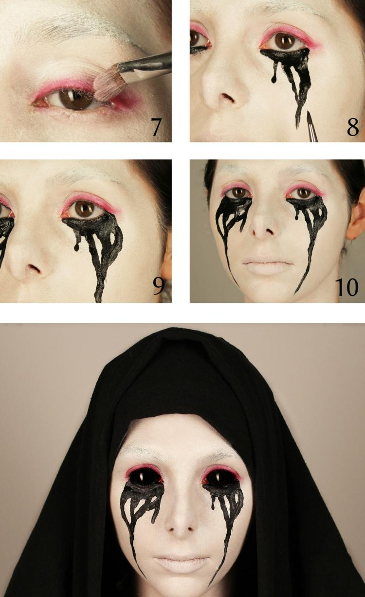 Halloween Make Up Anleitung Halloween Make Up Anleitung Scarry Schminken Step By Step T4f