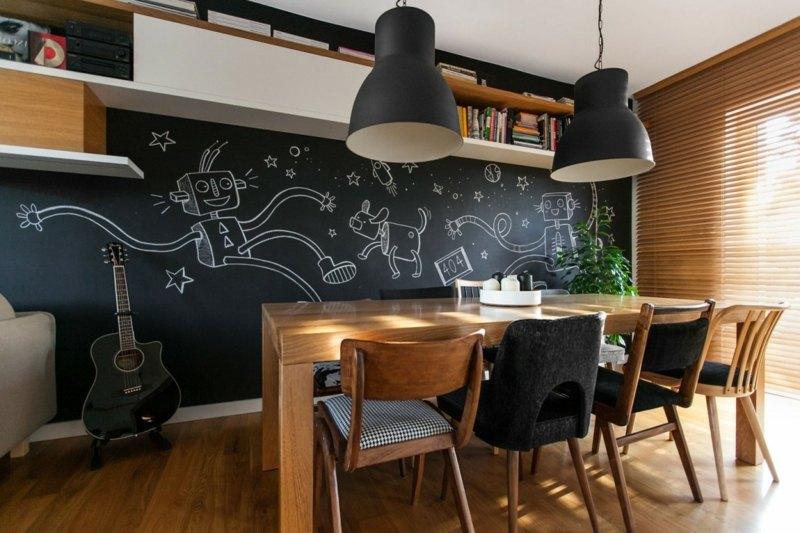Modernes Interieur in Weiß und Holz mit funktionalen Designs - bucherregal designs akzent interieur