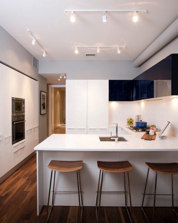 Küche in U-Form planen - 50 Ideen und Tipps - schwarze kuche tipps bilder interieur