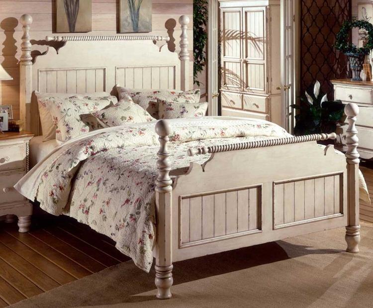 Landhausstil Schlafzimmer in Weiß - 50 Gestaltungsideen - schlafzimmer ideen landhausstil
