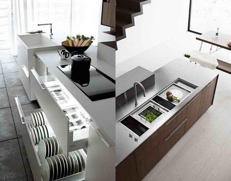 Moderne Kücheneinrichtungen - 32 Hi-Tech Wohnideen - moderne kuche praktische kuchengerate