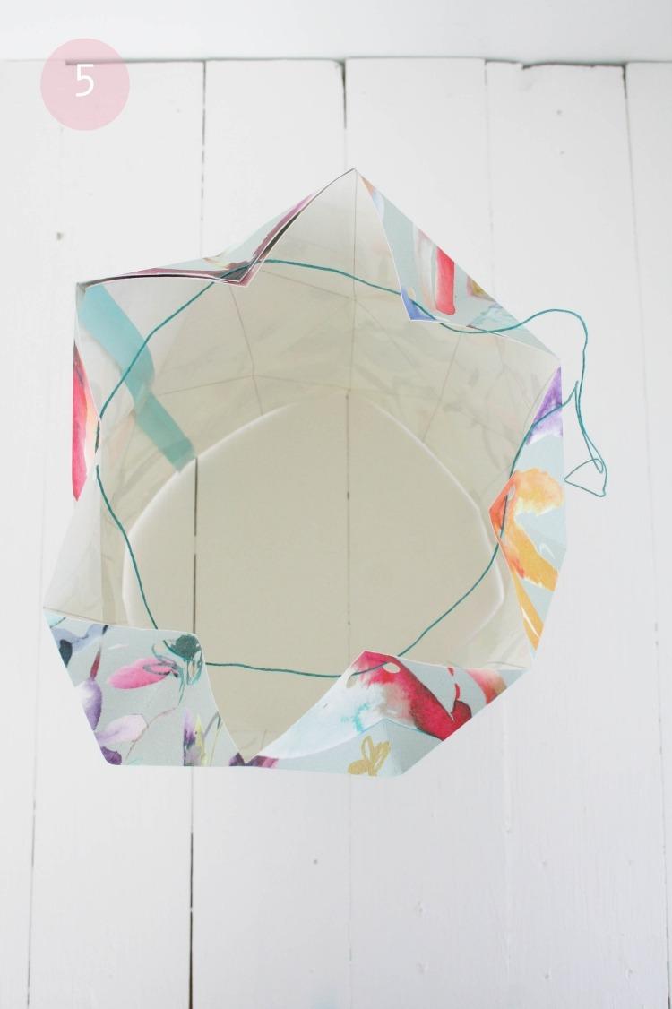 Lampenschirm Basteln Papier Glaskugel Stehlampe Englischer
