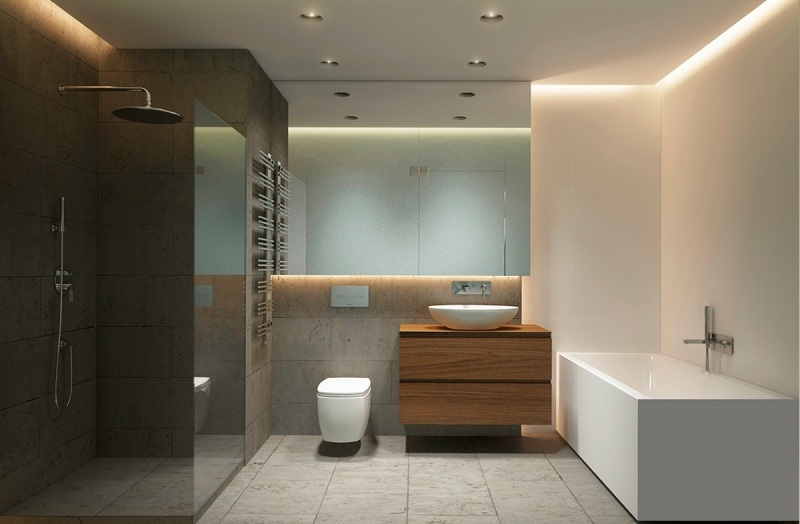Raumgestaltung Ideen In Grau   5 Moderne Appartements   Badezimmer Hellgrau