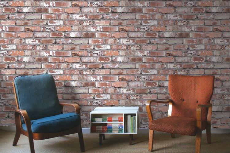 3d Grey Brick Effect Wallpaper Backstein Tapete Wandgestaltung Mit Realistischem Effekt