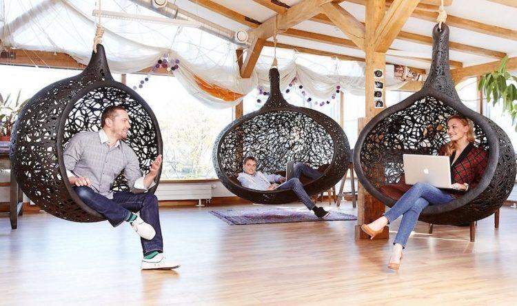Hängesessel aus Korb - exotische Lounge aus Rattan - hangesessel korb rattan