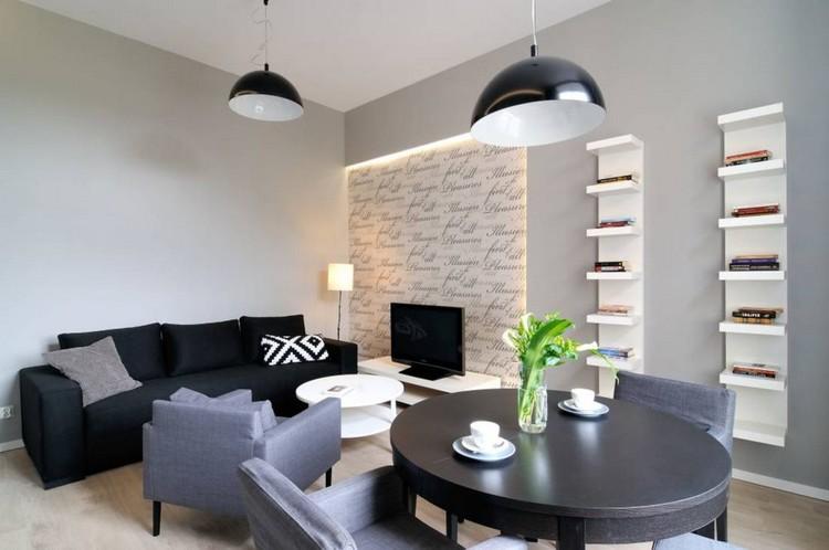 Kleines Wohn Esszimmer einrichten - 22 moderne Ideen - schwarz im esszimmer ideen einrichtung